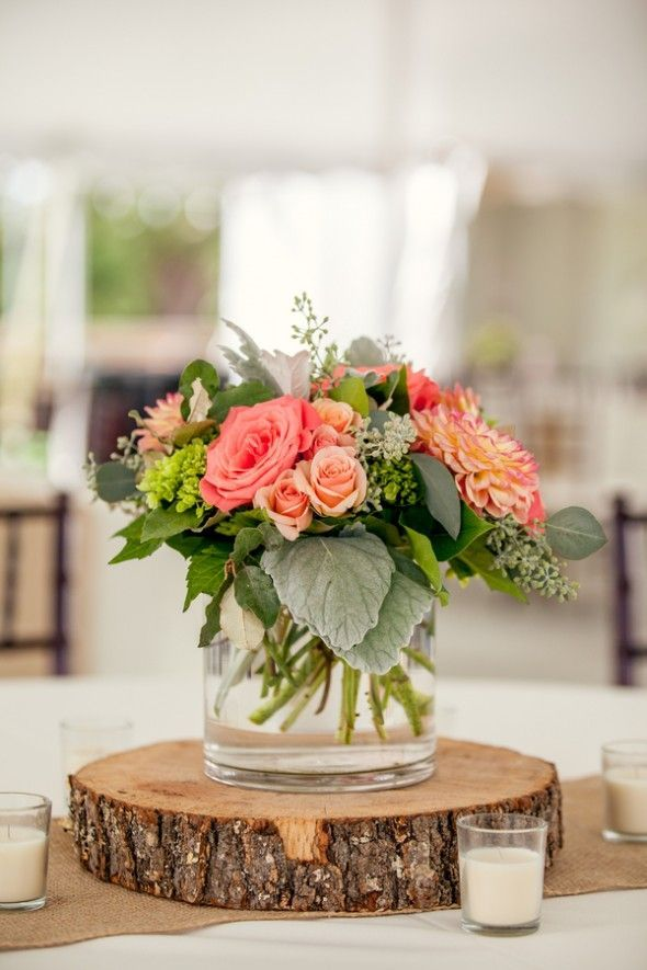 35 Rustic Wood Slab Centerpieces Into Your Wedding Preppy Wedding Rustic Wedding Centerpieces