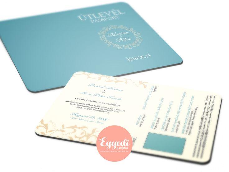 Különleges esküvői meghívó útlevél formában | Special passport wedding invitations