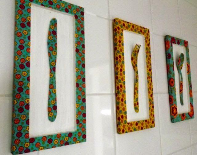 17 melhores ideias sobre Quadros De Tecido no Pinterest  Amostras de tecido, # Decorar Cozinha Diy
