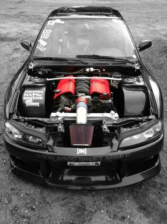 Nissan Silvia with Corvette engine...HELL!!!!!!!