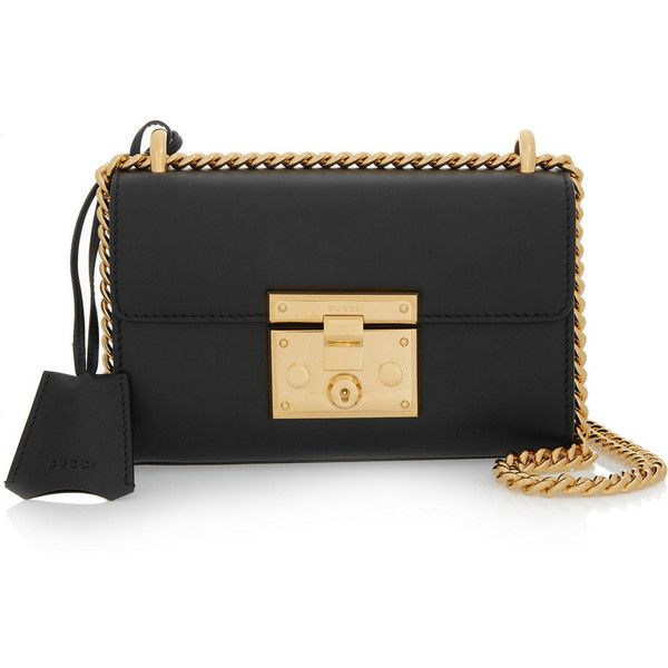 Gucci Linea C small leather shoulder bag (19.796.030 IDR) ❤ liked on Polyvore featuring bags, handbags, shoulder bags, clutches, gucci, black, black purse, leather over the shoulder bag, genuine leather handbags and black handbags