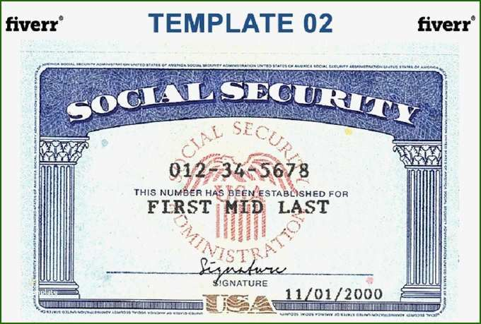 Fine Novelty Social Security Card Template Download With Photos In 2020 Social Security Card Card Templates Free Card Template