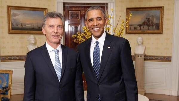 Barack Obama y Mauricio Macri, en la la Casa Blanca, en Washington. (FOTO:DYN/PRESIDENCIA)