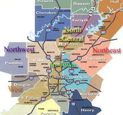 map of metro atlanta ga metro map