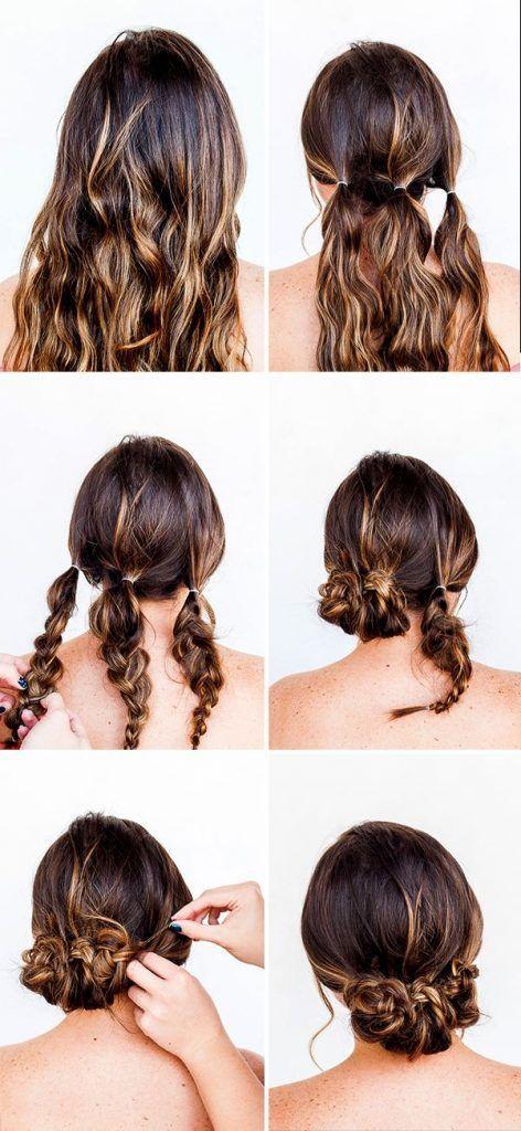 +65 Peinados Recogidos fu00e1ciles, hermosos, y elegantes [Paso a paso] con tre…
