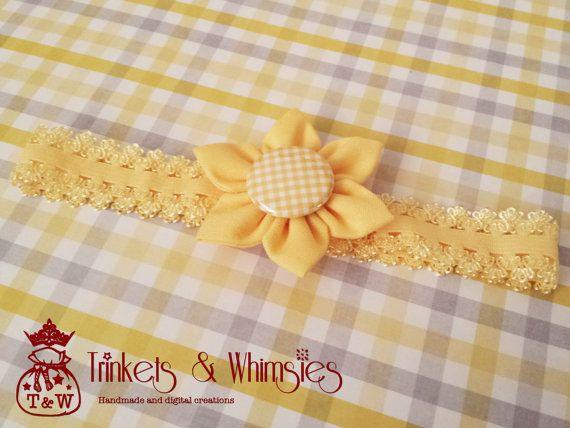 Honeysuckle Baby Headband by TrinketsAndWhimsies on Etsy, $6.00