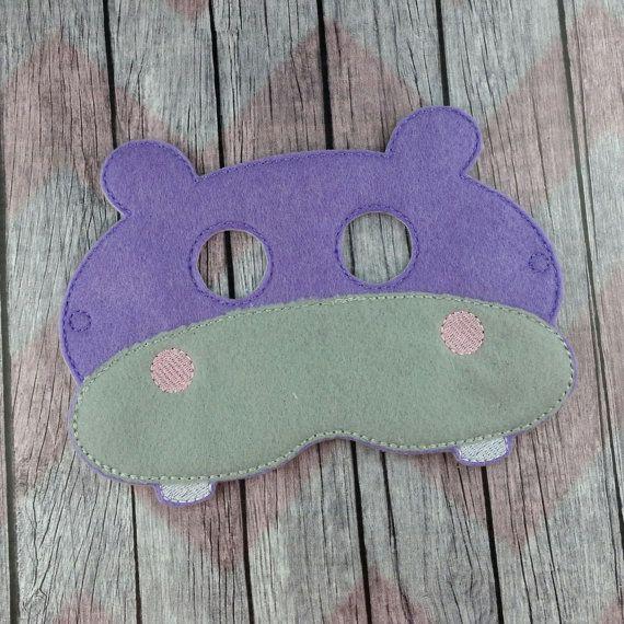 Hipopótamo sintió la máscara máscara de los por stuffnjunkbyheidi