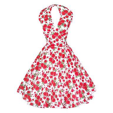 Maggie tang női kötőfék virágos 50-es VTG retro rockabilly Marilyn elsőrendű cos fél swing ruha 504 – USD $ 51.99