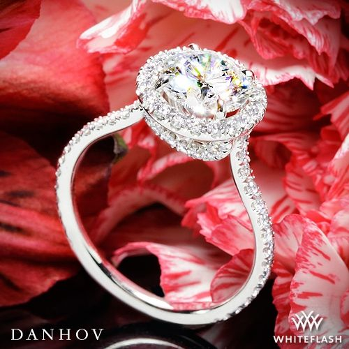17 Best Images About Diamond Halo Rings On Pinterest
