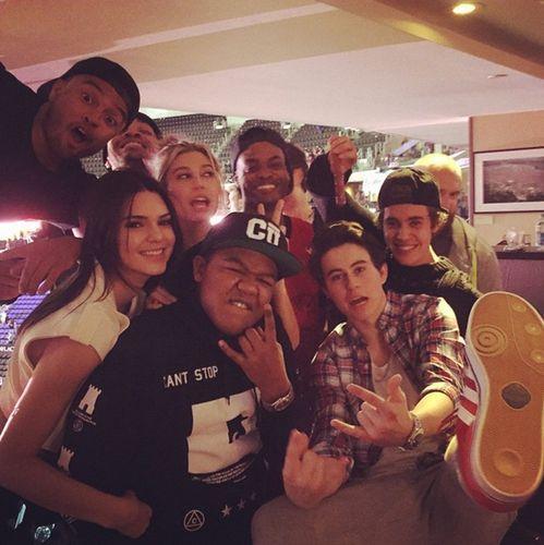 Kendall Jenner Kyle Massey Justin Bieber Nash Grier Clippers Game