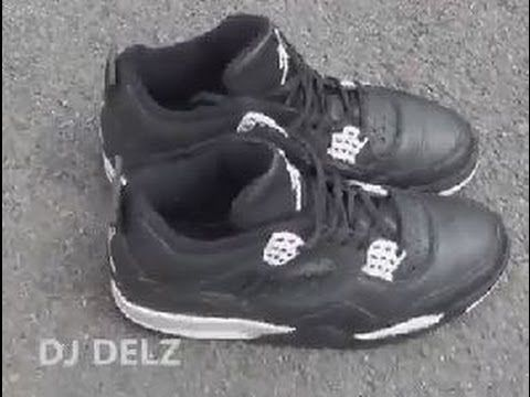 1999 Air Jordan Oreo 4 IV Shoe Review With @DjDelz The Sneaker Addict Show
