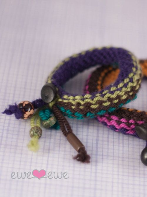 Knitted Bracelets Free Patterns : Little siblings would like these for cheap christmas idea! Knitship Bracelets...
