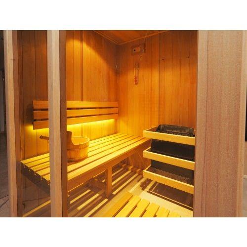 Cabina De Sauna Finlandesa Tradicional Paredes De Madera Hemlock Y - Sauna-madera