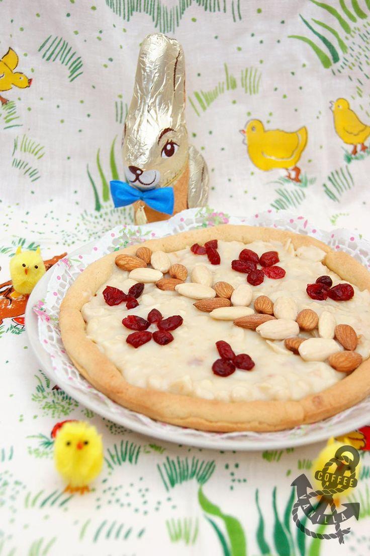 Almond & Cranberry Kaymak Mazurek - Traditional Polish Easter Pie