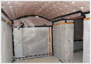 Basement Waterproofing, Cavity Drainage Membrane. Converting a basement can be a great way to add value to your property. It can however present issues regarding damp proofing including penetrating damp. Find out more on transforming damp cellars and basements http://www.petercox.com/basementwaterproofing.php