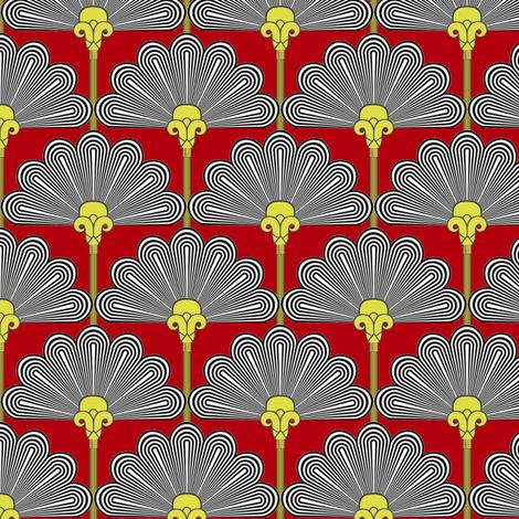 Thinking of Poirot   -Art Deco color2 fabric by fireflower on Spoonflower - custom fabric