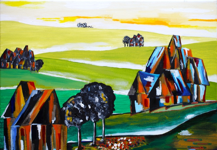 oil canvas 50x21