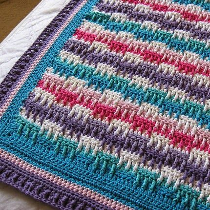 Free Crochet Patterns Childrens Blankets : Bright Textures Blanket - Free Pattern crochet ...