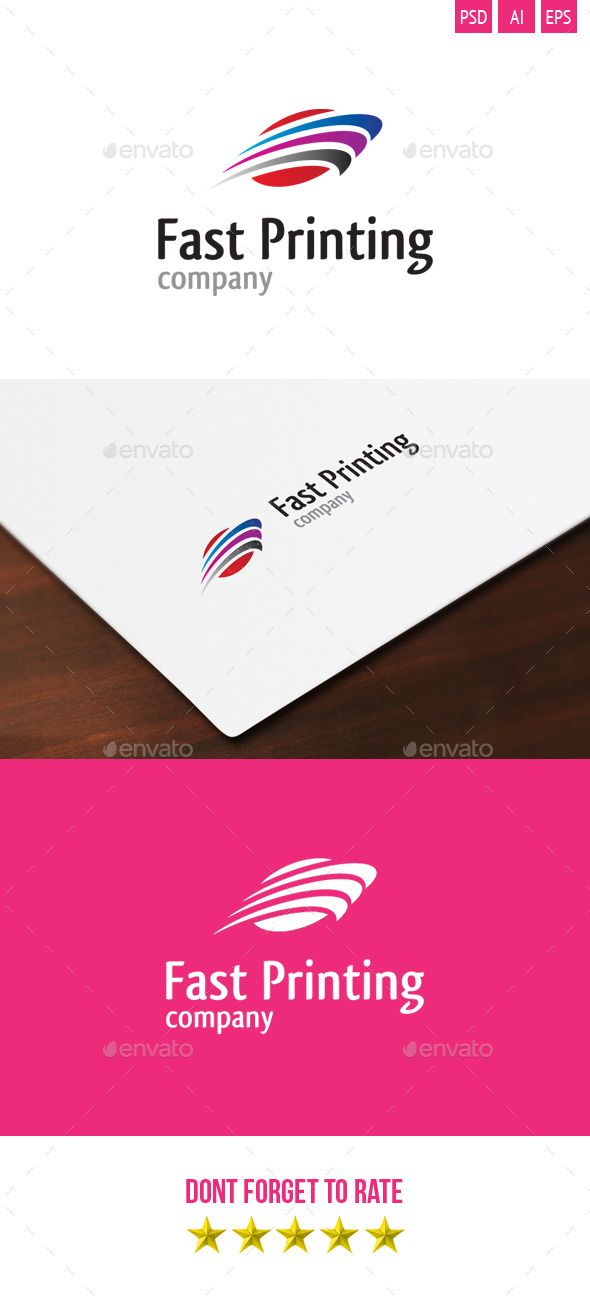 Fast Printing PSD Logo  Template • Only available here ➝ http://graphicriver.net/item/fast-printing-logo/4306905?ref=pxcr