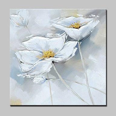 Håndmalte Still Life / Blomstret/Botanisk olje~~POS=TRUNC malerier~~POS=HEADCOMP,Moderne Et Panel Lerret Hang malte oljemaleri For Hjem