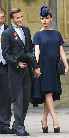 IN THE NAVY | Victoria Beckham pregnant at the royal wedding