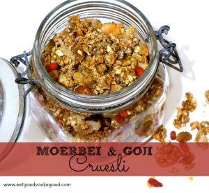 Moerbei en Goji Cruesli met Extra's :: Eet Goed Voel Je Goed