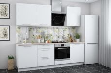 Кухонный гарнитур Ректа белый