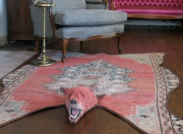 Bear Skin Rug, Bear Rug, Wool Rugs, Wool Area Rugs, Interior Ideas,  Repurposed, Recycled Art, For The Home, Persian