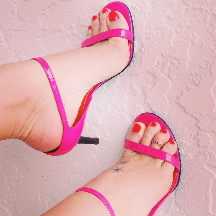 Ralph Lauren pink strappy heels