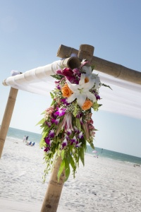 Fresh Flowers for Your Beach Wedding Arbor...