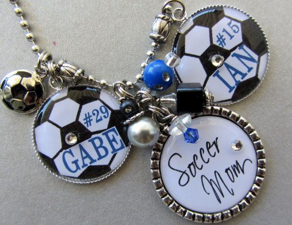Soccer Mom Necklace PERSONALIZED sports jewelry inTeam by buttonit