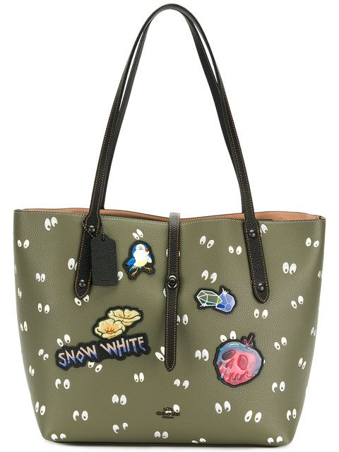 519e28a32611 Coach Snow White patch printed tote. Coach Snow White patch printed tote  Cute Bags