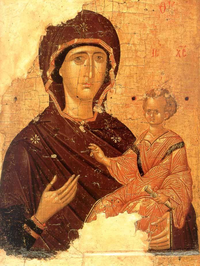 Богоматерь Одигитрия Византия. Первая четверть XV в. Государственная Третьяковская Галерея