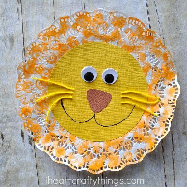 Doily Lion Kids Craft