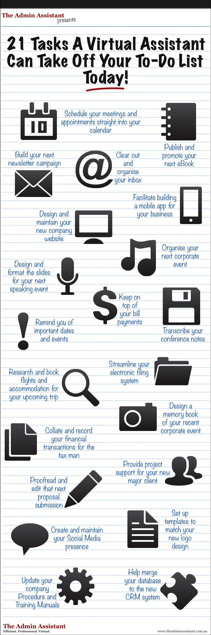 INFOGRAPHIC - Clear Your To Do List With A Virtual Assistant! - The Admin Assistant