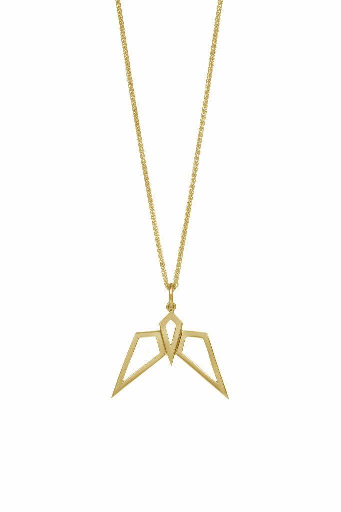 Condor pendant (yellow gold) #statementnecklace