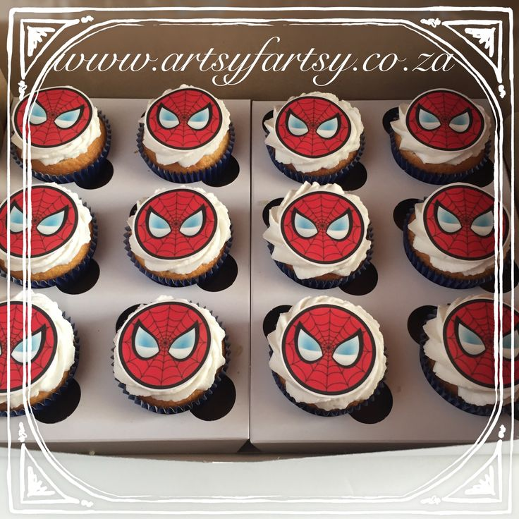 Spider-Man Cupcakes #spidermancupcakes