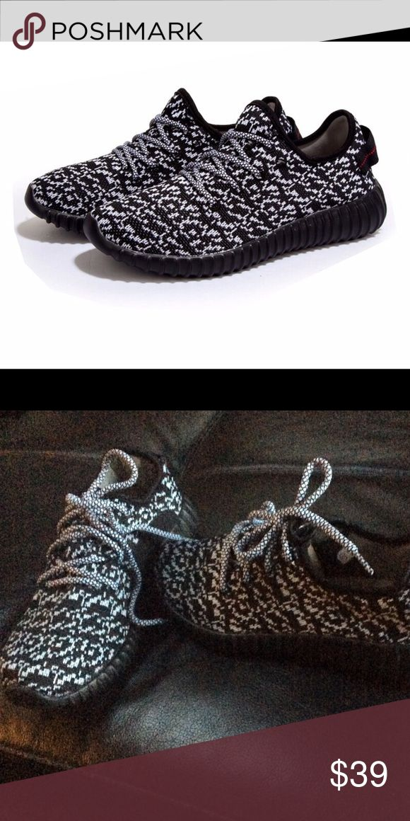 Yeezy Boost Pirate sneakers Great looking and comfortable replica of the Adidas Yeezy Boost Pirate. Knit mesh upper with rubber sole Black grey. NO TRADE PRICE FIRM UNLESS BUNDLED😘 Shoes Sneakers