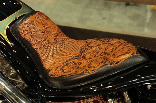 12 best custom leather motorcycle seats images on for Garage seat nice