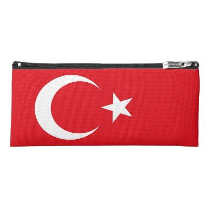 Patriotic pencil case with flag of Turkey - trendy gifts cool gift ideas customize
