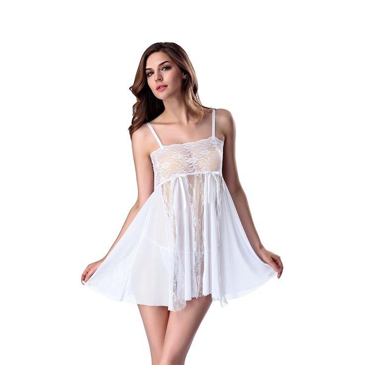 Sexy Lingerie for Women Babydoll Nightwear Chemise Set