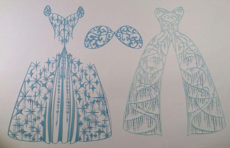 切り絵のドレス✨ディズニープリンセス 白雪姫 の画像|コトコト切り絵中