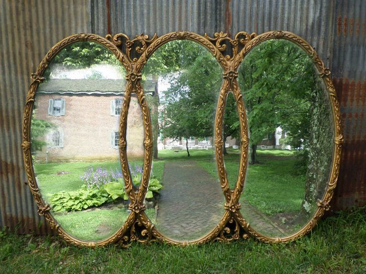 Huge Vintage Triple Mirror, Room size Mirror, Gold Baroque Mirror by smallVintageAffair on Etsy https://www.etsy.com/listing/240527186/huge-vintage-triple-mirror-room-size