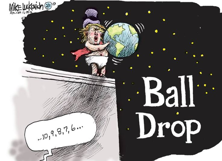 A Not-So-Happy to see Trump New Year's Ball Drop ... hopefully the expected damage to the Earth and its people can be limited and contained?!