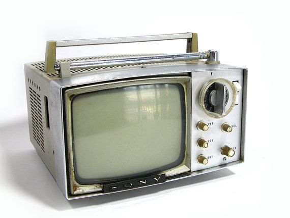 Vintage Portable Sony TV Model 5303 W with Case by SproutVintage, $40.00