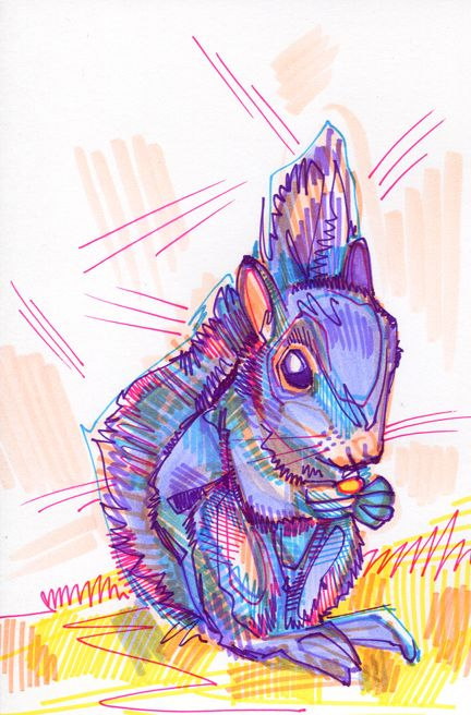 Purple squirrel.