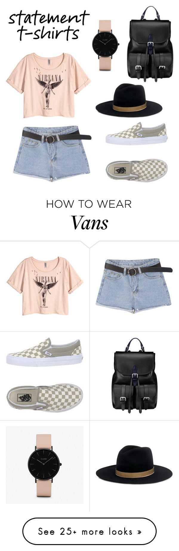 """Boho Concert ✌"" by reneeralphsxo on Polyvore featuring H&M, Vans, Janessa Leone, Aspinal of London and CLUSE"
