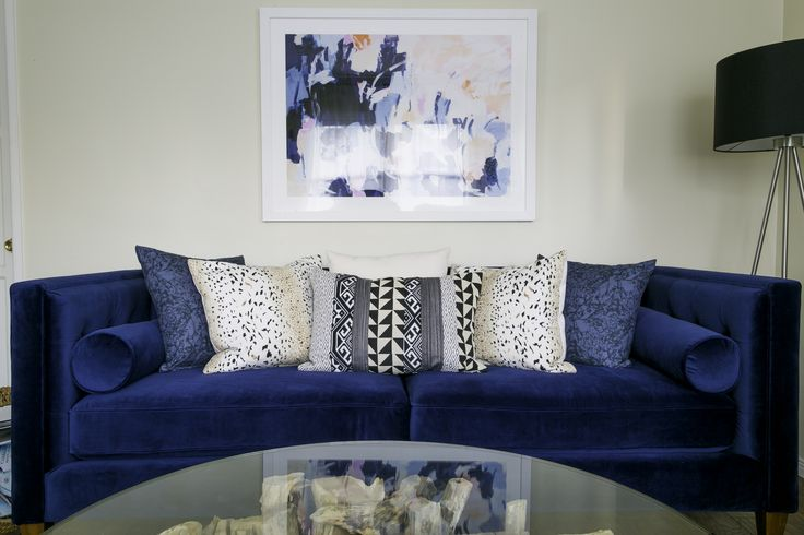 Eclectic Couch Pillows : Layer a luxe sofa with eclectic printed pillows for a textured, modern look. Contemporary ...