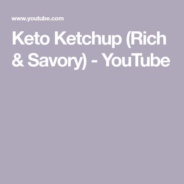 Keto Ketchup (Rich & Savory) - YouTube