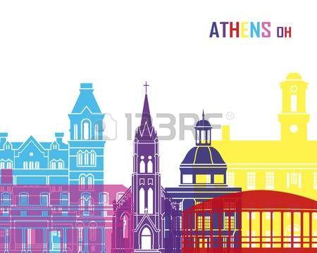 Athens OH pop horizonte en el archivo vectorial editable